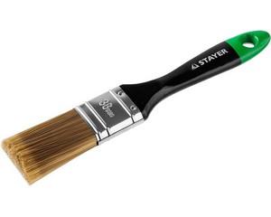 """STAYER """"KANEKARON-EURO"""". Кисть плоская, искусственная щетина, деревянная ручка, 38мм"""