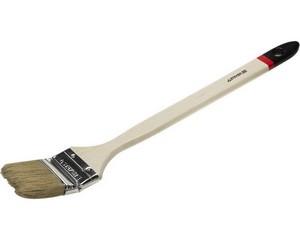 """Кисть радиаторная STAYER """"UNIVERSAL-EURO"""", светлая натуральная щетина, деревянная ручка, 63мм"""