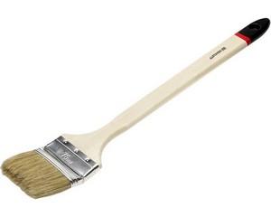 """Кисть радиаторная STAYER """"UNIVERSAL-EURO"""", светлая натуральная щетина, деревянная ручка, 75мм"""