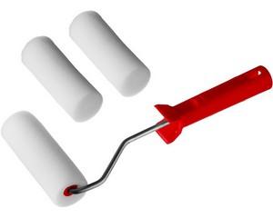 """Валик """"ПОРОЛОН"""" в наборе: 3 шубки + ручка, 100 мм, d=40 мм, MIRAX"""