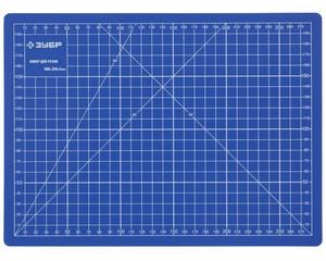 """Коврик ЗУБР """"ЭКСПЕРТ"""", непрорезаемый, 3мм, цвет синий, 300х220 мм"""
