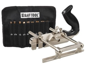 """Рубанок KRAFTOOL """"EXPERT"""" металлический для специальных работ, модель """"A52"""", 9 ножей в комплекте, 210мм"""