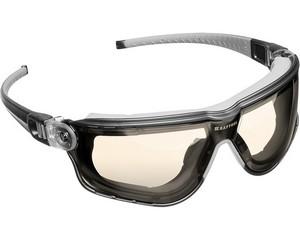 KRAFTOOL ORION Прозрачные профессиональные защитные очки с регулируемыми дужками, поликарбонатная монолинза, непрямая вентиляция