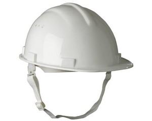 Каска защитная с тканевой амортизационной вставкой, цвет белый