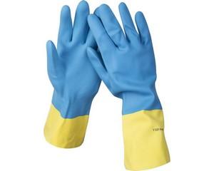 STAYER DUAL Pro перчатки латексные с неопреновым покрытием, хозяйственно-бытовые, стойкие к кислотам и щелочам, размер M