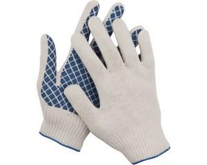 DEXX перчатки трикотажные, 7 класс, с обливной ладонью.