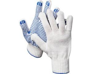 DEXX перчатки трикотажные, 7 класс, с ПВХ покрытием (точка)