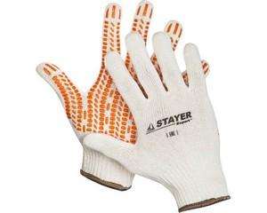 STAYER TRACK, размер L-XL, перчатки трикотажные, с ПВХ покрытием.