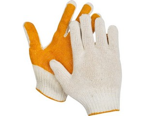 STAYER GP-7, размер L-XL, перчатки трикотажные для тяжелых работ, с ПВХ покрытием ладони.