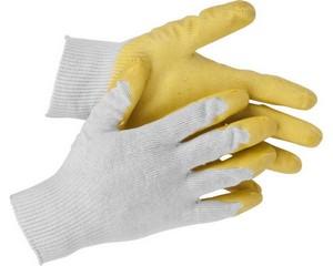 STAYER L-13, размер S-M, перчатки с одинарным латексным обливом.