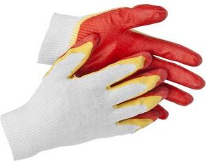 STAYER 2L-13, размер S-M, перчатки с двойным латексным обливом.