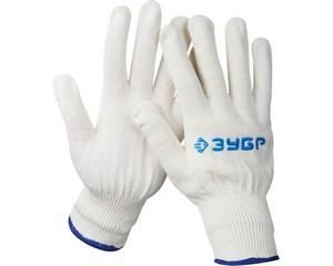 ЗУБР П-12, размер L-XL, перчатки трикотажные тонкие, без покрытия.