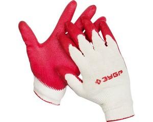 ЗУБР Л-13, размер S-M, перчатки с одинарным латексным обливом.
