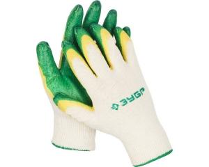 ЗУБР 2Л-13, размер L-XL, перчатки с двойным латексным обливом, 10 пар в упаковке.