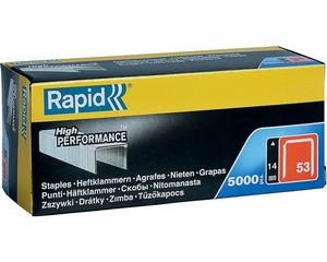 RAPID 14 мм тонкие скобы, супертвердые, профессиональные тип 53 (A / 10 / JT21), 5000 шт