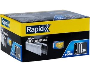 RAPID 14 мм плоские скобы, супертвердые, профессиональные тип 36, 5000 шт