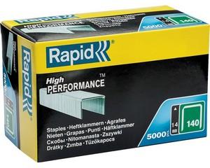 RAPID 14 мм плоские скобы, супертвердые, профессиональные тип 140 (G / 11 / 57), 5000 шт