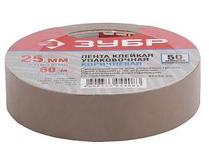 Клейкая лента, ЗУБР Мастер 12033-25, коричневая, 25мм х 60м