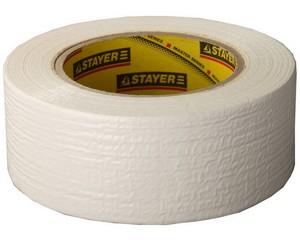 Армированная лента, STAYER Master 12082-50-50, универсальная, влагостойкая, 48мм х 45м, белая