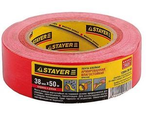 Армированная лента, STAYER Master 12084-38-50, универсальная, влагостойкая, 38мм х 50м, красная