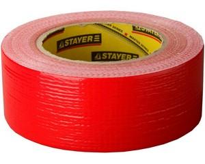 Армированная лента, STAYER Master 12084-50-50, универсальная, влагостойкая, 48мм х 45м, красная