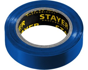 STAYER Protect-10 Изолента ПВХ, не поддерживает горение, 10м (0,13х15 мм), синяя