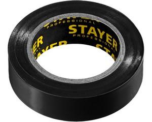 STAYER Protect-10 Изолента ПВХ, не поддерживает горение, 10м (0,13х15 мм), черная