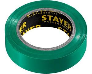 STAYER Protect-10 Изолента ПВХ, не поддерживает горение, 10м (0,13х15 мм), зеленая