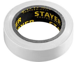 STAYER Protect-10 Изолента ПВХ, не поддерживает горение, 10м (0,13х15 мм), белая
