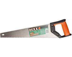 """Ножовка DEXX """"ХОББИ""""по дереву, двухкомп рукоятка, заточенный разведенный универс зуб, объемная закалка, 5TPI, 400мм"""