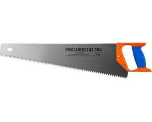 """Ножовка """"ИЖ"""" """"ПРЕМИУМ"""" по дереву с двухкомпонентной пластиковой рукояткой, шаг 8мм, 500мм"""