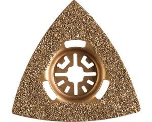 Насадка шлифовальная c карбид-вольфрамовым напылением ВК-8, треугольная, сторона 80 мм, ЗУБР Профессионал, ШВТ-80