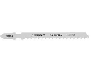 Полотна  для эл/лобзика, Bi-metal, по дереву, ДВП, ДСП, EU-хвост., шаг 4мм, 74мм,, STAYER, PROFESSIONAL, 15985-4_z01