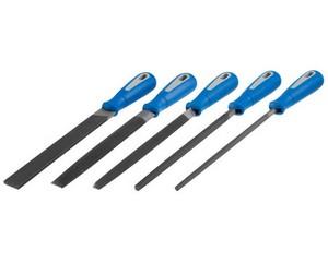 """Набор ЗУБР: Напильники """"ПРОФЕССИОНАЛ"""" с двухкомп ручкой, плоский, полукруглый, трехгранный, квадратный, круглый, №2, 200мм"""