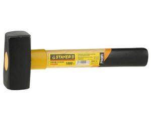 """Кувалда STAYER """"PROFI"""" кованая с деревянной ручкой и протектором, 1,0кг"""