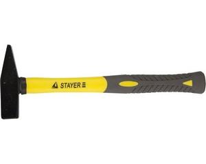 """Молоток STAYER """"PROFI"""" слесарный кованый с двухкомпонентной фиберглассовой ручкой, 0,4кг"""