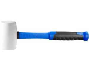 ЗУБР 680г Белая резиновая киянка с фиберглассовой рукояткой