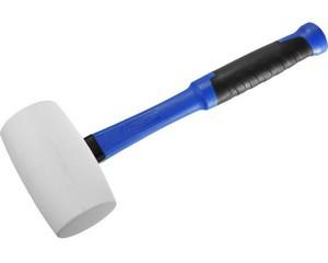 ЗУБР 900г Белая резиновая киянка с фиберглассовой рукояткой