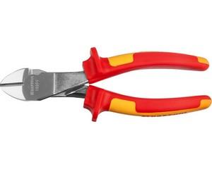 """Бокорезы """"ELECTRO-KRAFT"""" усиленные, Cr-Mo сталь, двухкомпонентная маслобензостойкая рукоятка, хромированное покрытие, 180мм, KRAFTOOL 2202-6-18"""