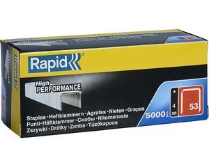 RAPID 4 мм тонкие скобы, супертвердые, профессиональные тип 53 (A / 10 / JT21), 5000 шт
