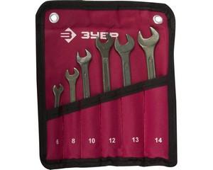 Набор гаечных ключей комбинированных, ЗУБР, 27025-H6