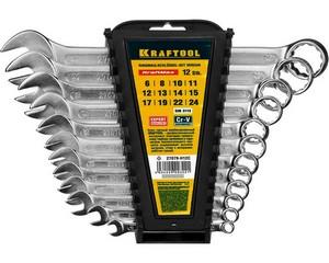 Ключ гаечный комбинированный, KRAFTOOL, 27079-H12C