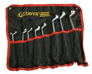 Набор гаечных ключей накидных, STAYER, MASTER, 27153-H8