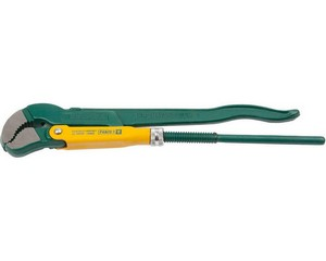KRAFTOOL PANZER-S, №1, ключ трубный, изогнутые губки