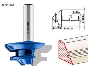 Фреза кромочная для углового сращивания, D= 38,1мм, рабочая длина-17,1мм,хв.-12мм, ЗУБР Профессионал
