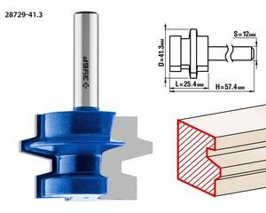 Фреза комбинированная универсальная, D= 41,3мм, рабочая длина-25,4мм, хв.-12 мм, ЗУБР Профессионал