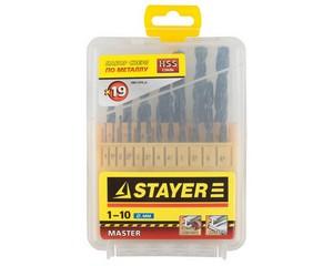 Набор сверл по металлу, STAYER, MASTER, 2961-H19_z01