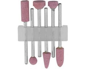 STAYER Набор: насадки шлифовальные абразивные с оправкой, оксид алюминия, 6 предм.