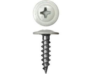 Саморезы ПШМ для листового металла, 16 х 4.2 мм, 500 шт, RAL-9003 белый, ЗУБР