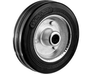 Колесо d=100 мм, г/п 70 кг, резина/металл, игольчатый подшипник, ЗУБР Профессионал